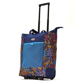 Oympia Blue Rolling Shopper Tote