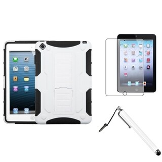 BasAcc White/ Black Case/ Stylus/ LCD Protector for Apple iPad Mini