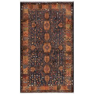 Afghan Hand-knotted Tribal Balouchi Brown/ Grey Wool Rug (3'8 x 6'3)