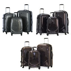 Olympia 'Savannah' 3-piece Hardside Spinner Luggage Set