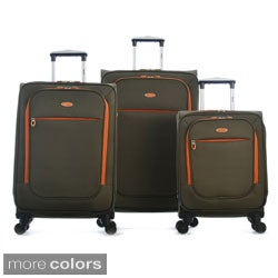 Olympia Ultralight 3-piece Spinner Luggage Set