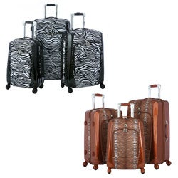 Olympia 'Mankato' 3-piece Hybrid Spinner Luggage Set