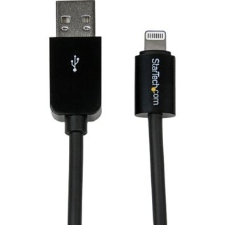 StarTech.com 1m (3ft) Black Apple 8-pin Lightning Connector to USB Ca