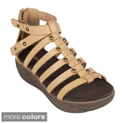 Reneeze 'Enjoy-02' Women's Gladiator Platform Sandals