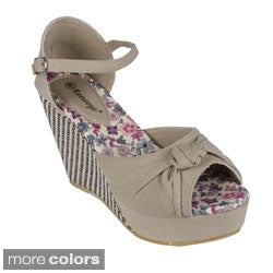 Reneeze Women's 'Ella-01' Peep-toe Wedge Sandals