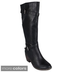 Reneeze 'ABBA-11' Women's Knee-high Riding Boots