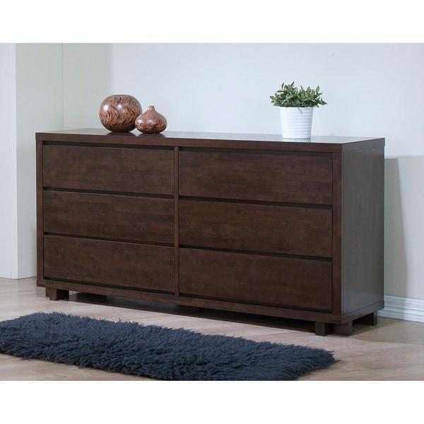 Harvey wenge 6 drawer bedroom dresser 80005015 for Bedroom 6 drawer dresser