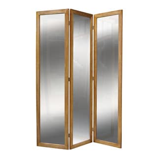 Mirror 3-Panel Wood Screen (China)