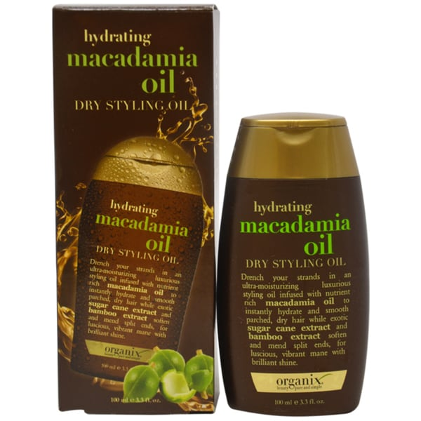 Organix Hydrating Macadamia 3.3-ounce Dry Styling Oil