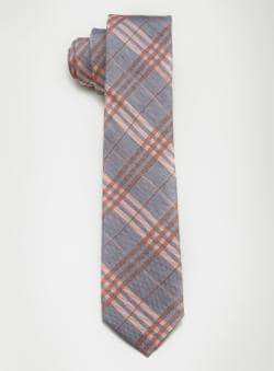 Ben Sherman Linen & Silk Plaid Tie