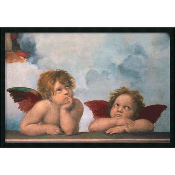 Sanzio Raphael 'Cherubini' Gel-Coated Framed Art Print