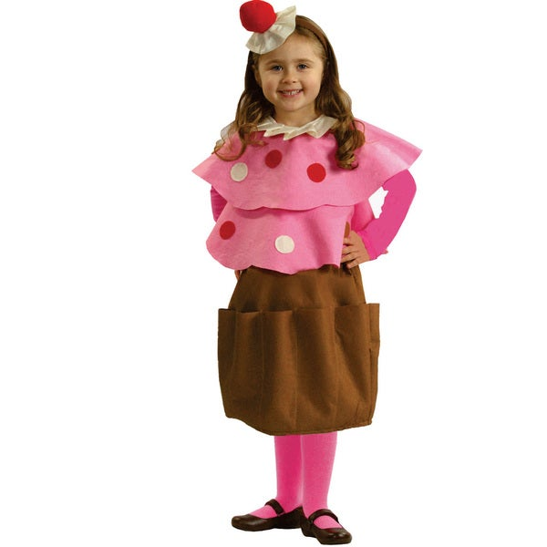 Girls Creamy Cupcake Costume