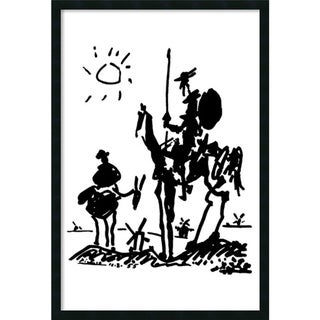 Pablo Picasso 'Don Quixote' Gel-Coated Framed Art Print
