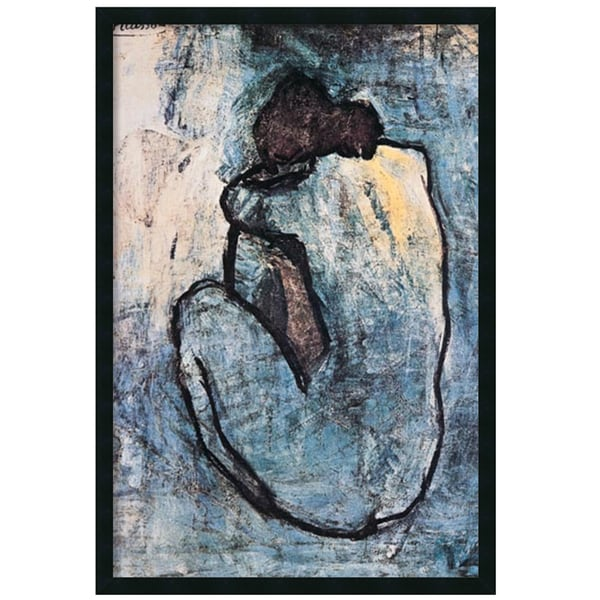 Framed Art Print The Blue Nude (Seated Nude), 1902 by Pablo Picasso 26 x 38-inch 11407097