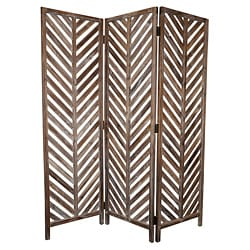Aloha 3-Panel Wood Screen (China)