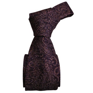 Dmitry Men's Purple/ Beige Patterned Italian Silk Tie