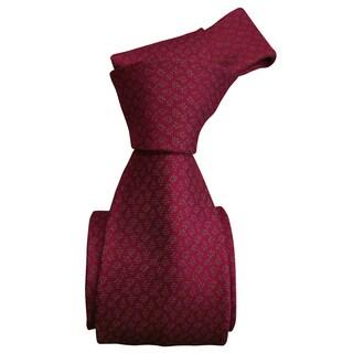 Dmitry Men's Pink Patterned Italian 100 Percent Silk Tie