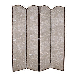 Galore 4-Panel Burlap Screen (China)