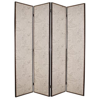 Navarro 4-Panel Burlap Screen (China)