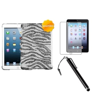 BasAcc Zebra Case/ Stylus/ Screen Protector for Apple iPad Mini