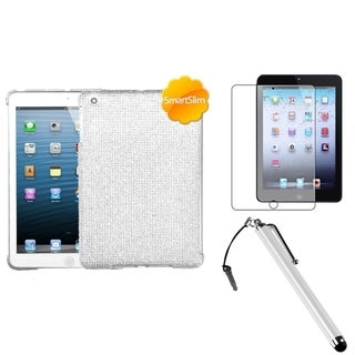BasAcc Silver Case/ Stylus/ LCD Protector for Apple iPad Mini