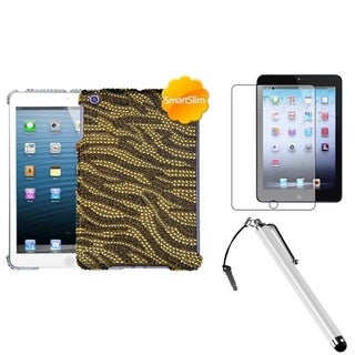 BasAcc Brown Tiger Case/ Stylus/ LCD Protector for Apple iPad Mini
