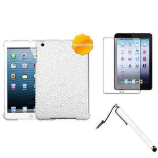 BasAcc White Pearl Case/ Stylus/ LCD Protector for Apple iPad Mini