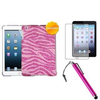 BasAcc Pink Zebra Case/ Stylus/ LCD Protector for Apple iPad Mini