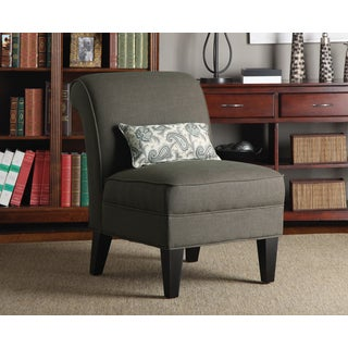 Portfolio Ada Brown Smoky Moss Linen Armless Chair