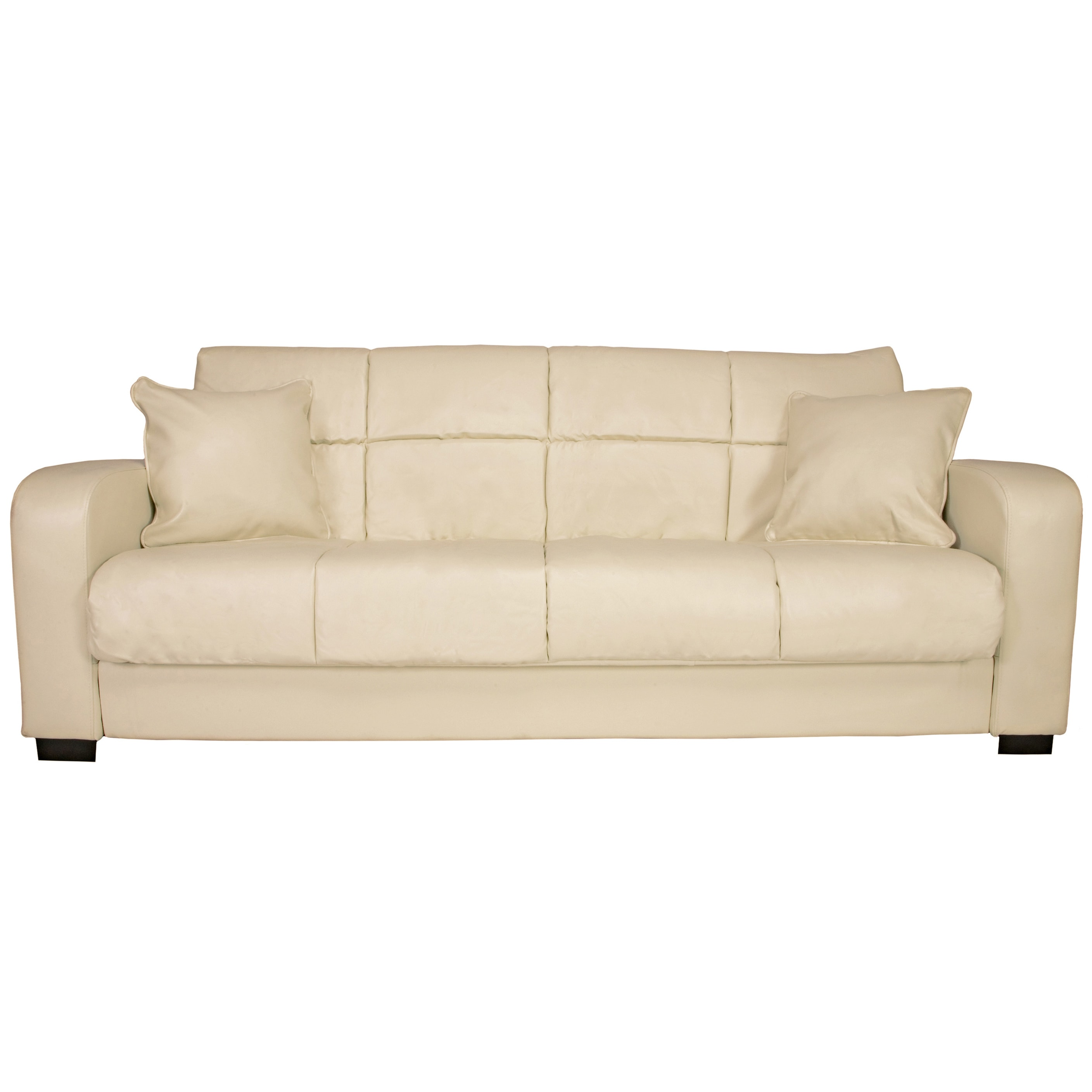 Portfolio Turco Convert-a-Couch� Cream Renu Leather Futon Sofa Sleeper at Sears.com