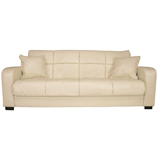 Portfolio Turco Convert-a-Couch� Cream Renu Leather Futon Sofa Sleeper