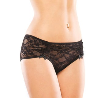 Coquette Women's Black Stretch Lace Panty