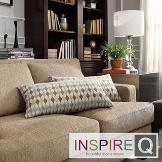 INSPIRE Q Drexel Diamond Impressions Kidney Pillow (Set of 2)