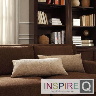 INSPIRE Q Drexel Tan Chenille Kidney Pillow (Set of 2)