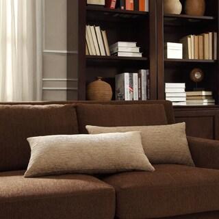INSPIRE Q Drexel Tan Chenille Kidney Pillow (Set of 2)