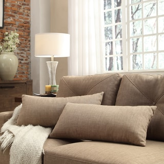 INSPIRE Q Drexel Tan Linen Kidney Pillow (Set of 2)