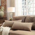 Kayla Mocha Linen Rectangular Throw Pillows (Set of 2)