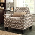 Hampton Primary Wavy Stripe Print Upholstered Track Arm Chair