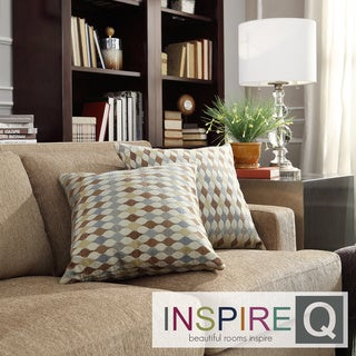 INSPIRE Q Clybourn 18-inch Toss Diamond Impressions Accent Pillow (Set of 2)