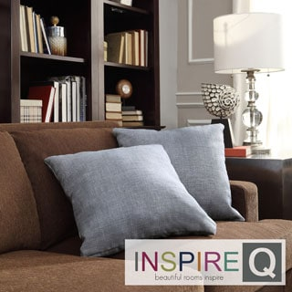 INSPIRE Q Clybourn 18-inch Toss Light Blue Linen Accent Pillow (Set of 2)