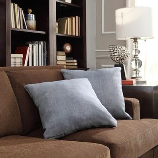 INSPIRE Q Clybourn 18-inch Toss Light Blue Linen Accent Pillow (Set of 2)