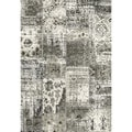Eternity Patchwork Black/ Silver Rug (5'3 x 7'7)