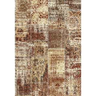 Eternity Patchwork Harvest Gold Rug (7'10 x 11'2)