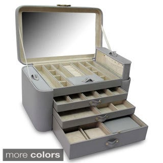 Morelle Leather Large Pull-out Jewelry Box