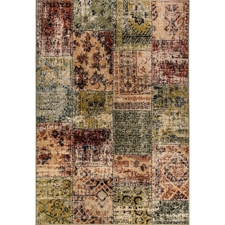 Eternity Patchwork Multi-colored Rug (6'7 x 9'6)