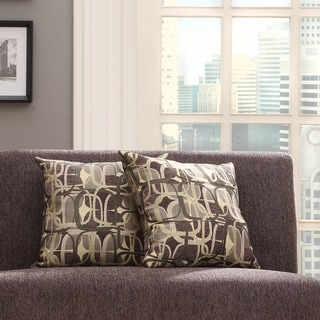 Kayla Fun Geometric 18-inch Square Throw Pillows (Set of 2)