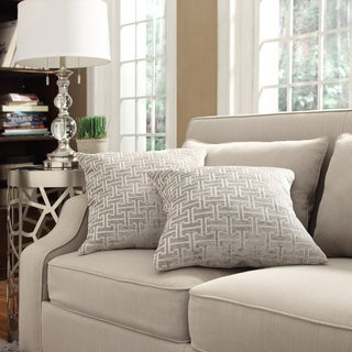 Kayla Grey Bracket Chain 18-inch Square Throw Pillows (Set of 2)