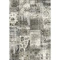 Eternity Patchwork Black/ Silver Rug (7'10 x 11'2)