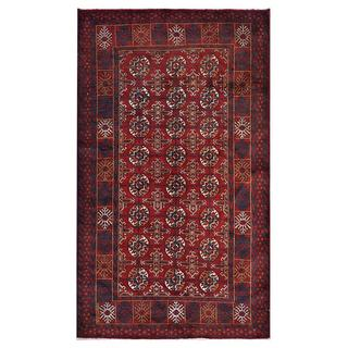 Afghan Hand-knotted Tribal Balouchi Red/ Rust Wool Rug (3'7 x 6'4)