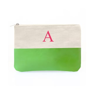 Personalized Kiwi Color Dipped Canvas Clutch
